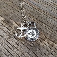 Navy Necklace / Navy Wife / Navy Girlfriend / Navy Mom / Navy Sister / JROTC / silver / beads / charms U. Navy Sister, Military Girlfriend, Navy Mom, Navy Boyfriend, Military Spouse, Boyfriend Gifts, Navy Necklace, Necklace Chain, Anchor Necklace