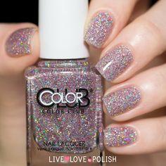 Stunning holographic glitter nail polish