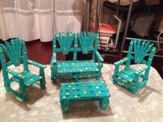 Muebles de jardín con pinzas de ropa | Aprender manualidades es facilisimo.com