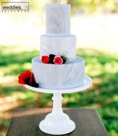 Marbled fondant cake by Bakery. Wedding Cake Photos, Amazing Wedding Cakes, Cupcake Table, Naked Cakes, Diy Wedding Inspiration, Garden Party Wedding, Wedding Backyard, Fondant, Modern Cakes