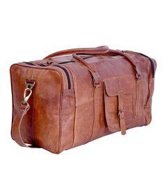 6b90625cae1c KPL 21 Inch Vintage Leather Duffel Travel Gym Sports Overnight Weekend  Duffel Bag - CP11HU6OJG5