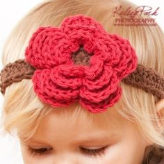 Crochet Pattern  Headband Flower and Bow all sizes by Mamachee