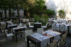 Courtyard Restaurant, French Riviera, Table Decorations, Image, Home Decor, Wolves, Decoration Home, Room Decor, Home Interior Design