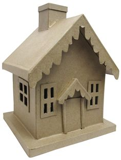 Paper Mache Christmas House by Craft Pedlars -- CreateForLess