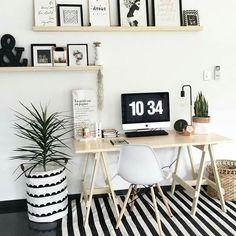 48 Ideas for home office scandinavian desk areas Home Office Design, Home Office Decor, House Design, Home Decor, Office Designs, Office Decorations, House Decorations, Desk Areas, Desk Space