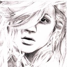 Scetching of a girl