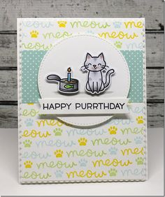 Stamping A Latte: Happy Purrthday! {CTD436}