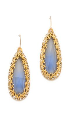 selected by http://jamesdrygoods.com for the made in america: contemporary project | #madeinusa | Alexis Bittar Siyabona Cerulean Earrings