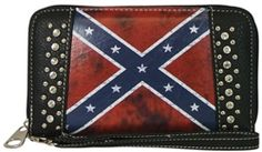 Show your Southern Pride with this Confederate Flag Clutch Wallet - You'll be the envy of your town! #southernpride #rebelflag #confederateflag