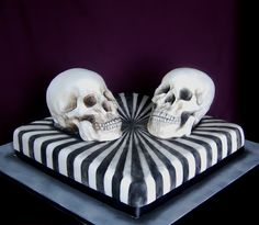 Skull wedding cake - everything is cake! Til Death Do Us Part...