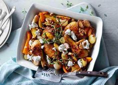 A mouthwatering combo of seasonal flavours – the squash caramelises, giving this a nutty sweetness