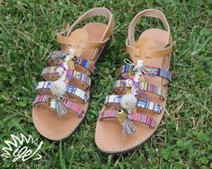 "Handmade Leather Sandals ""Modern Cleopatra"""