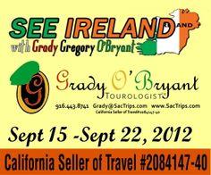 Going to Ireland in September!