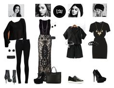 """""""On wednesdays we wear black."""" by sayashadowhunter ❤ liked on Polyvore featuring Oye Swimwear, Citizens of Humanity, Tempest, Givenchy, Charlotte Russe, CZ by Kenneth Jay Lane, ALDO, Worthington, Bling Jewelry and Karen Kane"""