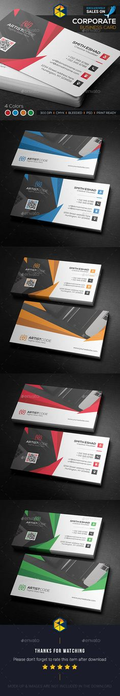 Abstract Shaped Business Card Design Template - Corporate Business Cards Template PSD. Download here: https://graphicriver.net/item/abstract-shaped-business-card/17681749?ref=yinkira
