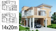 Home Design Plan with 5 Bedrooms.House description:One Car Parking and gardenGround Level: Living room, 2 Bedrooms, Dining room, Kitchen Home Map Design, Home Building Design, Dream Home Design, Home Design Plans, House Plans Mansion, Duplex House Plans, Dream House Plans, Double Storey House Plans, Modern House Floor Plans