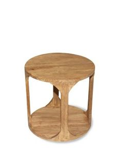 Ariel Natural Timber Side Table  55cm x 55cm x 55cm