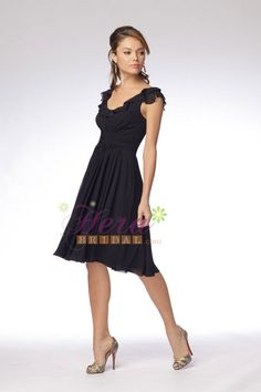 Popular Cap Sleeve Chiffon Bridesmaid Dress