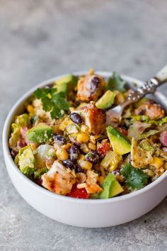 This flavor-packed Southwestern chopped chicken salad comes together in minutes and you can get started on it the day before!