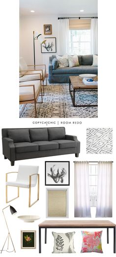 Copy Cat Chic: Copy Cat Chic Room Redo | Soft & Eclectic Living Space by @audreycdyer