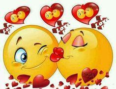 I Love my Husband - A Dose of Encouragement & Things I Love Images Emoji, Kiss Images, Emoji Pictures, Funny Pictures, Animated Emoticons, Funny Emoticons, Smileys, Love Smiley, Emoji Love