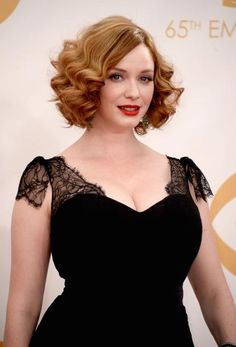 Christina Hendricks     For this sultry, wavy bob, Hendricks and her stylist Gregory Russell borrowed from a different era, citing this as an update on a thirties marcel wave.
