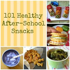 101 healthy after school snacks for kids! it's great to plan ahead to have snacks ready for the kids when they get home from school - during the busy school year full of activities!