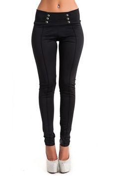 Black Bodycon Low Waist Pencil Trousers - US$15.95 -YOINS