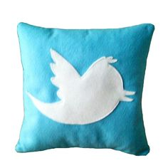 Twitter Icon Pillow by Nerdcuddle on Etsy