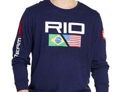 NWT Ralph Lauren Boys' Olympic Graphic Long Sleeve Tee Shirt Size S 8 #RalphLauren #Everyday