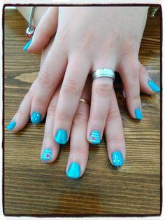 Decoracion Shellac. nails desing shellac blue.