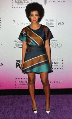 Solange Knowles wore Resort 2013 Ostwald Helgason at the Essence Black Women In Music event in Los Angeles.