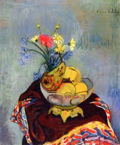 Still LIfe with Fruit Bowl / Suzanne Valadon - 1920