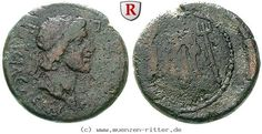 RITTER Königreich Bosporus, Mithradates III., Bogen, Löwenfell, Dreizack #coins