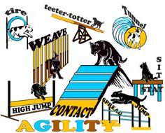 Dog Agility Fabric by KathysCraftShop on Etsy, $25.00