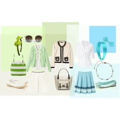 Ladylike Preppy style, created by even-syao on Polyvore