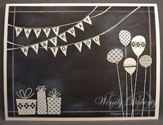Wednesday, April 17, 2013 Stamping Styles: Chalkboard Birthday Banner Patterned Party