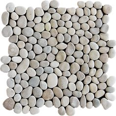 $5.99 Tan Polished 12×12 Pebble Stone Pebble Mosaics