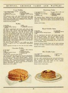 free vintage printable cookbook recipe page waffles pancakes