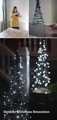 Diy Christmas Yard Decor - Diy Christmas Yard Decor, 30 Amazing Diy Outdoor Christmas Decoration Ideas for Diy Christmas Yard Decorations, Diy Christmas Lights, Noel Christmas, Christmas Crafts, White Christmas, Outdoor Decorations, Outdoor Trees, Christmas Music, Beautiful Christmas