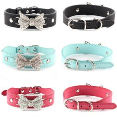 Treat your pet to this Crystal Bow Bling Collar     FREE worldwide shipping    http://www.pawsify.com/product/crystal-bow-bling-collar/