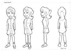 Esta personagem foi criada para ser inserida em uma animação gráfica, que faria parte de um web site acadêmico.