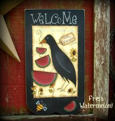 watermelons & crows   PATTERN - Fresh Watermelon - (And Crow) - New design from Terrye ...