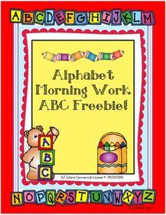 ABC Morning Work FREEBIE!!!