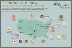 Are you partial to polka dots? Down for damask? The design-your-own fabric and paper site Spoonflower has ranked cities across America by which decor style rules supreme. Check out the results: