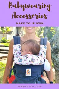 How to Make Baby Carrier Suck Pads - Free Pattern & Tutorial Got drool? Make your own DIY Suck Pads and protect your baby carrier investment. Less washing, more wearing! Free Pattern and video tutorial. Sewing Projects For Kids, Sewing For Kids, Free Sewing, Diy Projects, How To Sew Baby Blanket, Baby Carrier Cover, Sewing Baby Clothes, Couture, Ideas