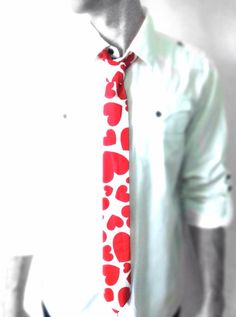King of Hearts Valentines Day Necktie on Etsy, $28.00