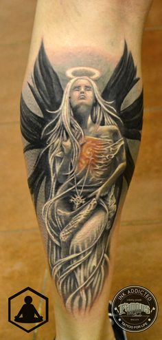 Angel tattoo  #zenbenzen #angel #girl #tattoo #blackandgrey