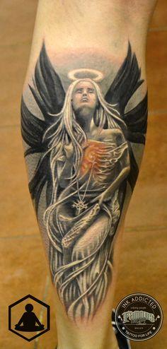 Angel tattoo  #zenbenzen #angel #girl #tattoo #blackandgrey