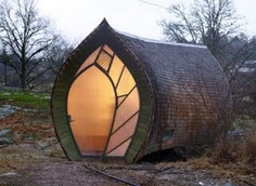 How cute would this be if the outside were made of a different material such that it could be used as a greenhouse -  Swedish leaf house- sanctuary